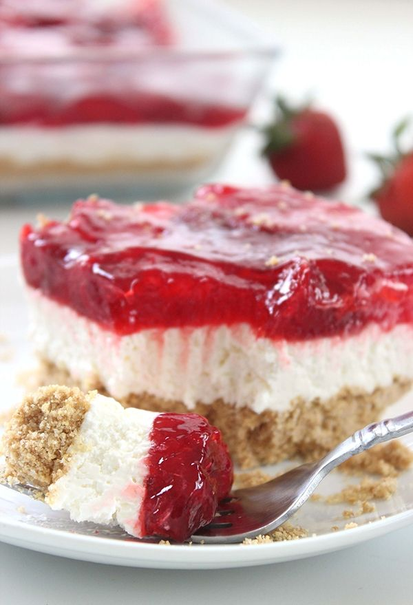 Ingredients: 1 box Duncan Hines® Signature French Vanilla Cake Mix ½ cup butter, melted 3 large eggs, divided 1 package (8 oz) cream cheese 2 1/2 cups plus 2 Tbsp. confectioner's sugar 1 can (21 oz) Duncan Hines Comstock® Strawberry Instructions: Preheat oven