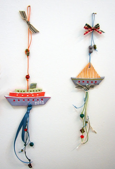 nice little boats for good luck. http://xanthippe-art.blogspot.gr/search/label/christmas