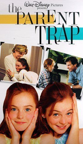 The Parent Trap ~ 1998 ~ starring Lindsay Lohan AND Lindsay Lohan as separated 11 year old identical twin girls who meet at summer camp and change places hoping to reunite their divorced parents. A remake of the 1961 Walt Disney version starring Haley Mills