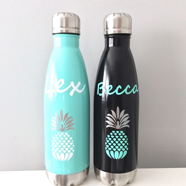 Stainless Water Bottle, Pineapple Water Bottle, Monogram Pineapple Bottle, Stainless Water Bottle, Personalized Water Bottle by KatiePieDesigns on Etsy https://www.etsy.com/listing/539846436/stainless-water-bottle-pineapple-water