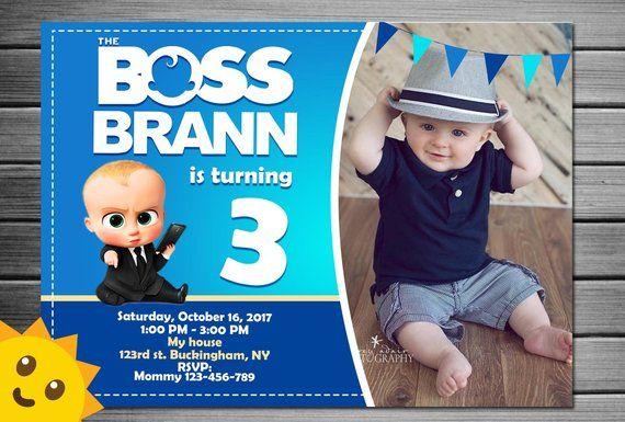 Boss Baby Invitation Boss Baby Birthday Invitation Boss Baby Par With Images Baby Birthday Invitations Baby Birthday Party Invitations Boy Birthday Invitations