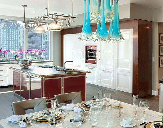 Burgundy La Cornue Island And Flamberge. Find Out More:  Www.purcellmurray.com · Luxury Kitchen DesignModern ...