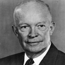 President Dwight D. Eisenhower was in office