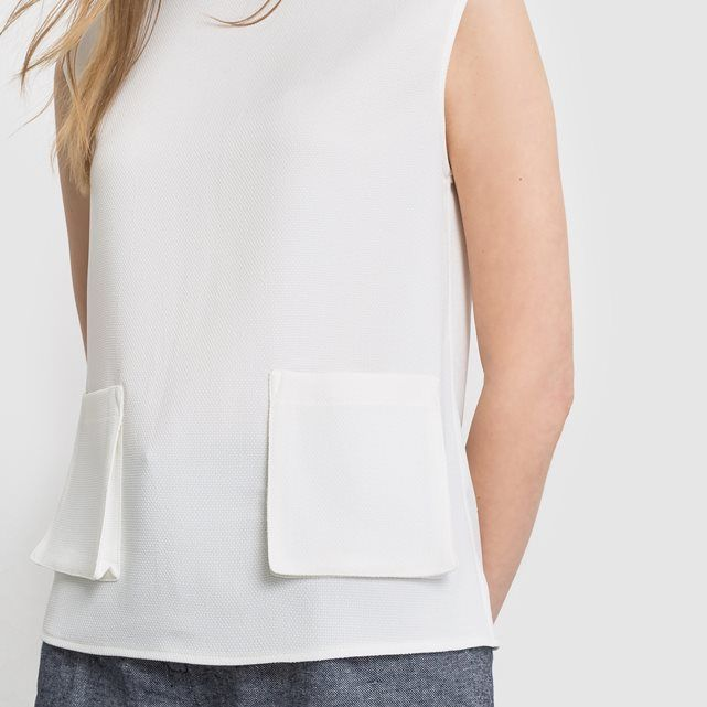 Блузка без рукавов с карманами LAURA CLEMENT