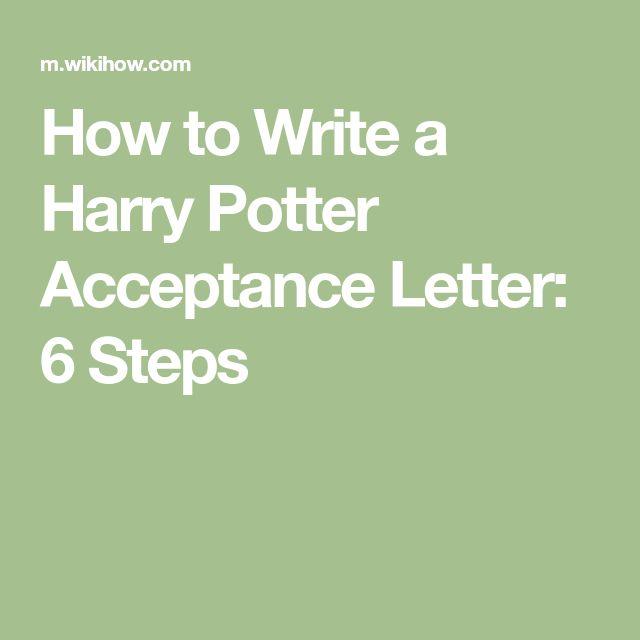 Best 25+ Harry potter acceptance letter ideas on Pinterest - acceptance letter