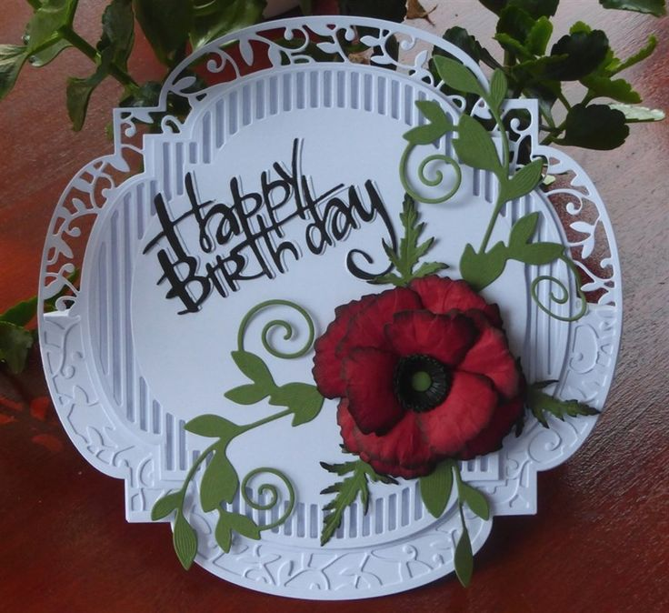 Tonic Studios Layering Twisting Veranda Die Set - Birthday card for Daughter - 2nd card using this die | docrafts.com