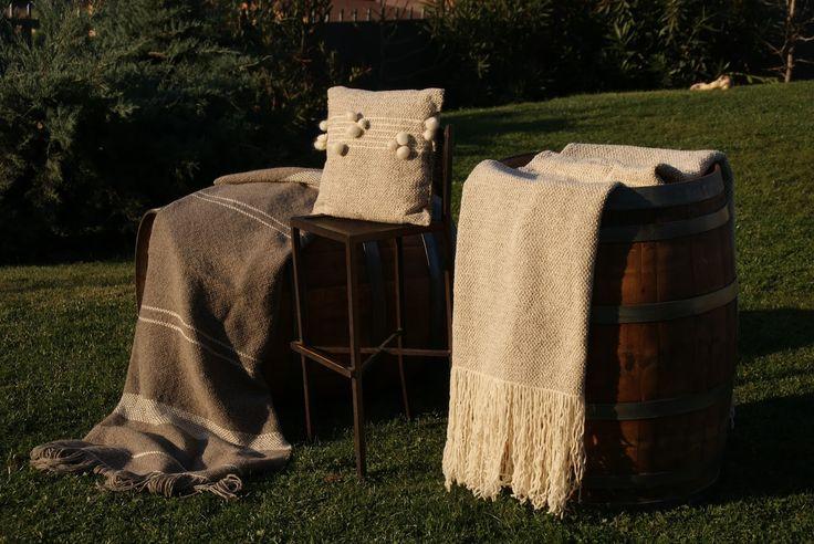 Mantas & Cojines, lana de oveja, chile, diseño,