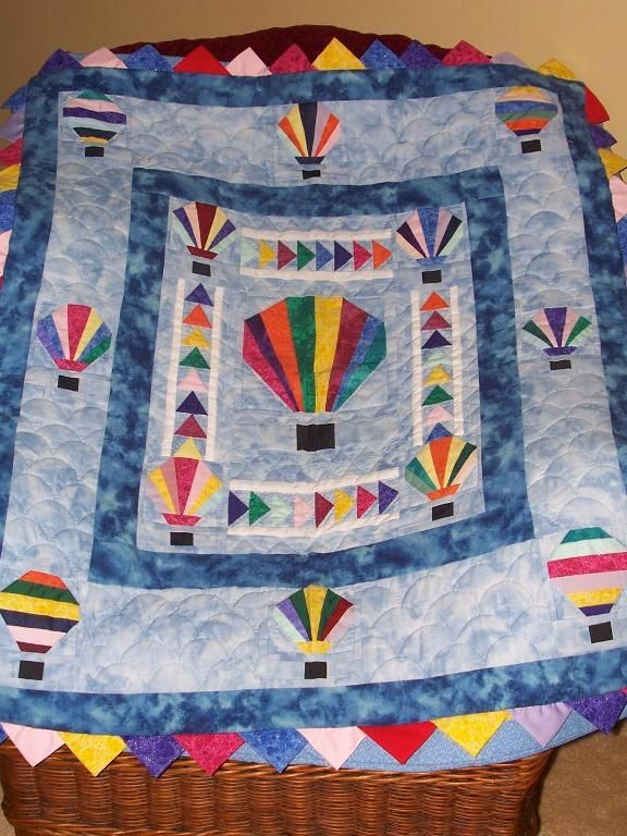 Hot Air Ballon Quilt Quilting Pinterest Air Balloon