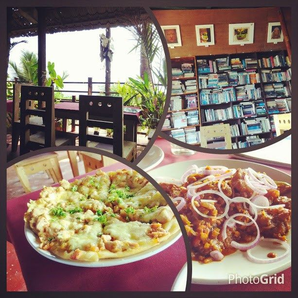 Tried out the Kerala beef fry at this seaside restaurant in Varkala. The best part was not just the food, which comprised of amazing Tuna laden pizza too, but also the decor of the place, filled with books and a view of the beach. #Varkala #Kerala #Beach #Food #Stories #Travelogue #Travel