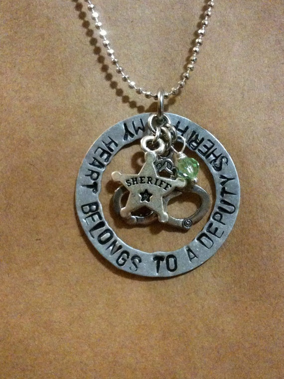 Super Cute Deputy Sheriff Wife or Girlfriend Necklace! I must have