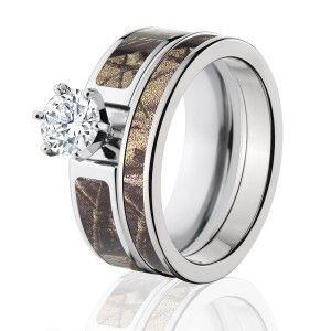 RealTree AP Camo Bridal Set, Womens Camouflage Wedding Rings