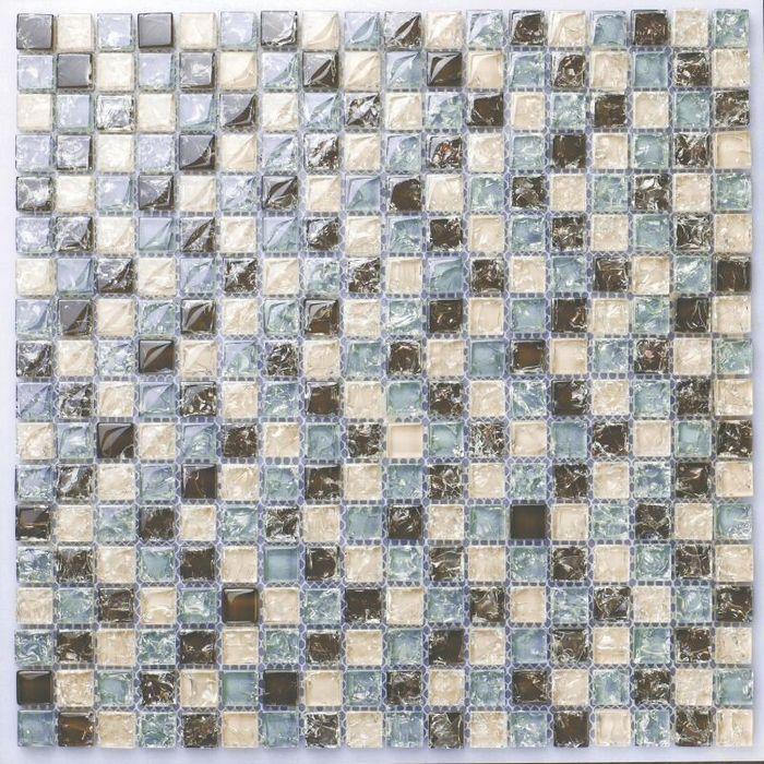 Мини площади коричневый синий и бежевый цвет crakle стеклянная мозаика для кухни щитка плитка ванная комната душ мозаичная плитка границы
