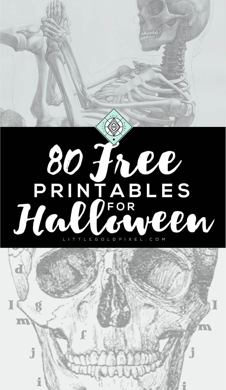 In which I round up even more Halloween Free Printables — these are awesome for last-minute decor ideas, printing out on the fly and Halloween parties.