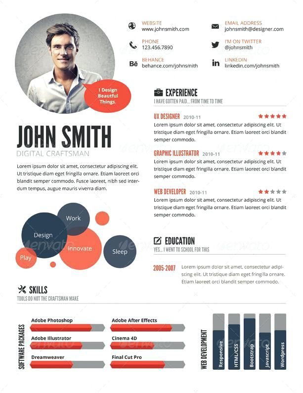 cv template visual cvtemplate template visual cv template