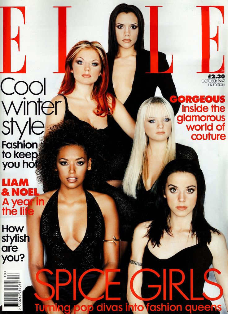 Spice Girls for ELLE Magazine UK Photographed by Mark Abrahams in London on September 12th, 1997
