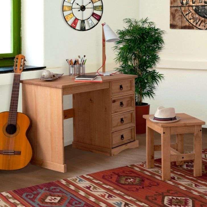 $548 Escrivaninha e Banco I 4 Gavetas - Finca Rustica