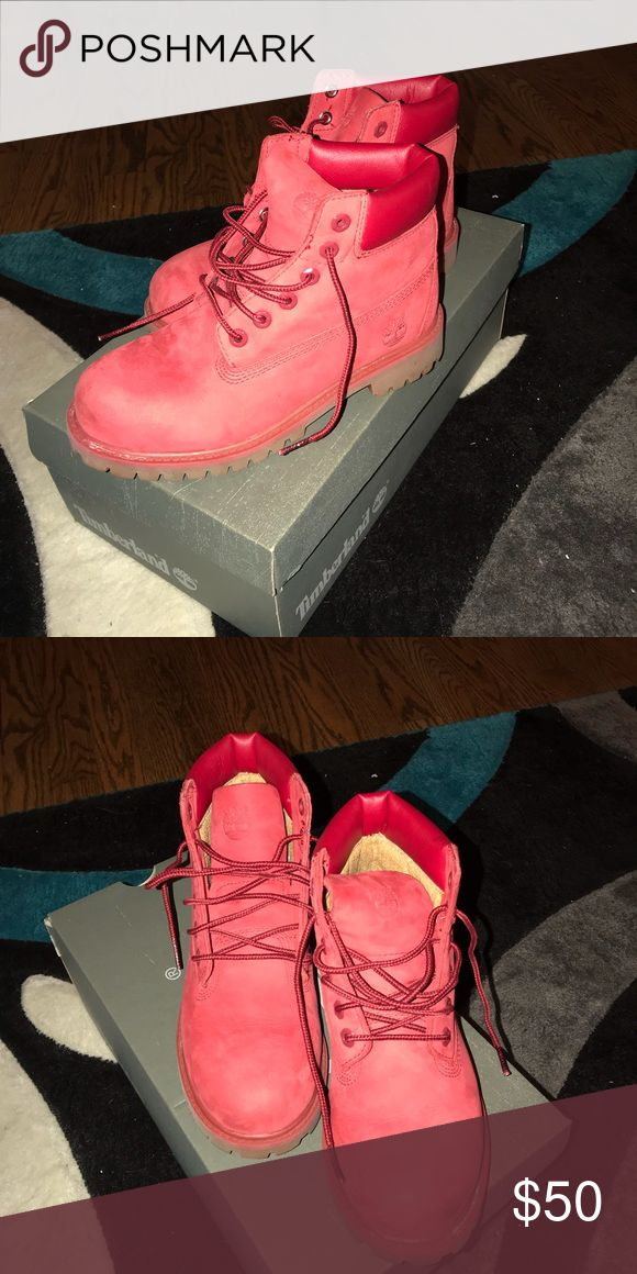 Timberlands Super cute boys timberlands. Size 2.5. Feel free to make an offer or add this listing to a bundle to receive my bundle discount. Timberland Shoes Boots