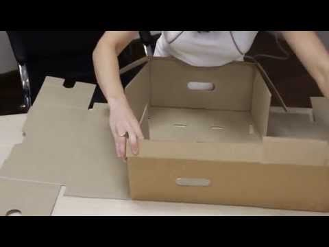 Видео про гофрокартон. Испытание на прочность картонных коробок из гофрокартона.