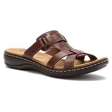 Women's Slide Sandals/Clarks Leisa Bora Tan