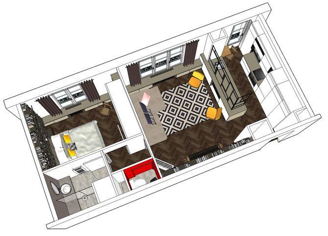 Очаровательная парижская квартира 45 м2 от Charlotte Vauvillier - Дизайн интерьеров | Идеи вашего дома | Lodgers