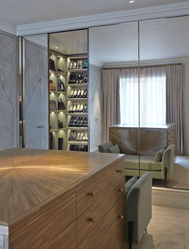 Morpheus London - dressing room with shoe and accessory closet.
