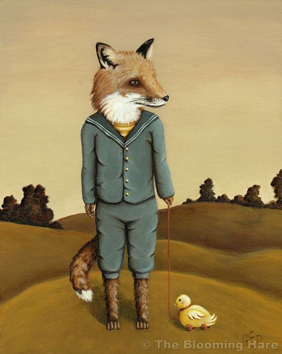 Fergus Fox print 8x10 by TheBloomingHare on Etsy, $16.00