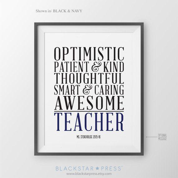 Personalized Teacher Gift for Teacher Gift Ideas by BlackstarPress