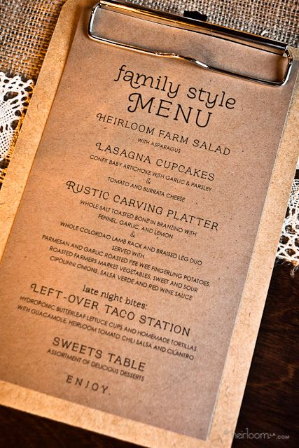 menu design - Menu Design Ideas