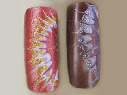 Уроки нейл-арта--- Полосатые ногти - Наращивание ногтей, Дизайн ногтей бесплатно