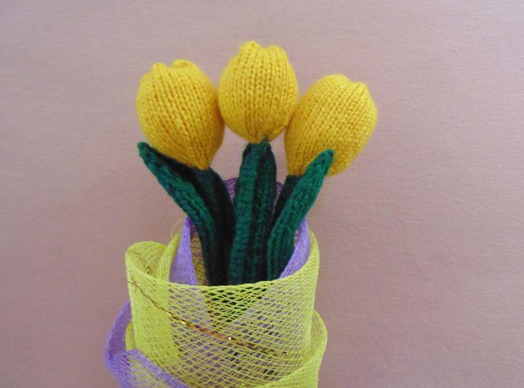 мастер-класс, желтые тюльпаны, подарок