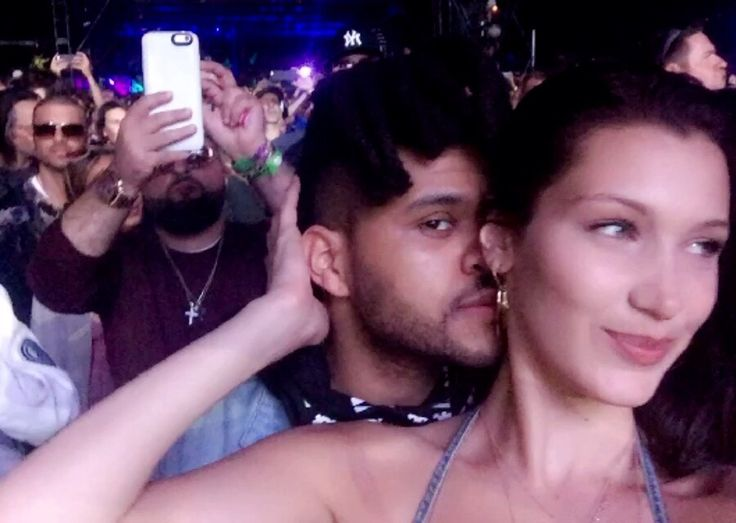 Bella Hadid and Abel Tesfaye (The Weeknd) at Coachella