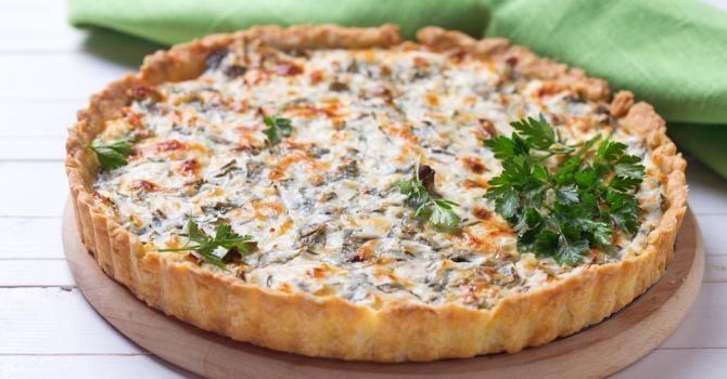 Recette de Quiche allégée Croq'Kilos à la ricotta, champignons et petits pois. Facile et rapide à réaliser, goûteuse et diététique.