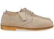Beige/Witte Clarks Originals schoenen Desert London sneakers