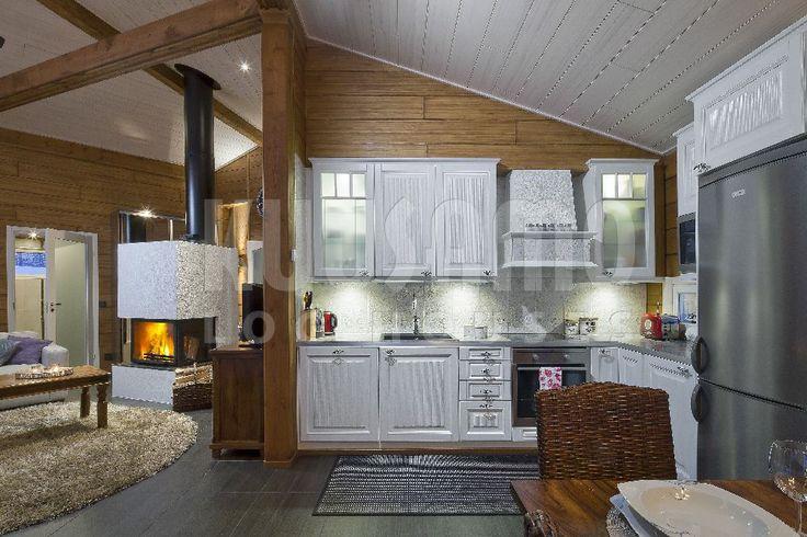 cocina casa de madera KU85 Kuusamo Log Houses Finlandia