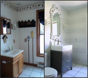 Ideas For Bathroom Walls best 20+ striped bathroom walls ideas on pinterest | stripe walls