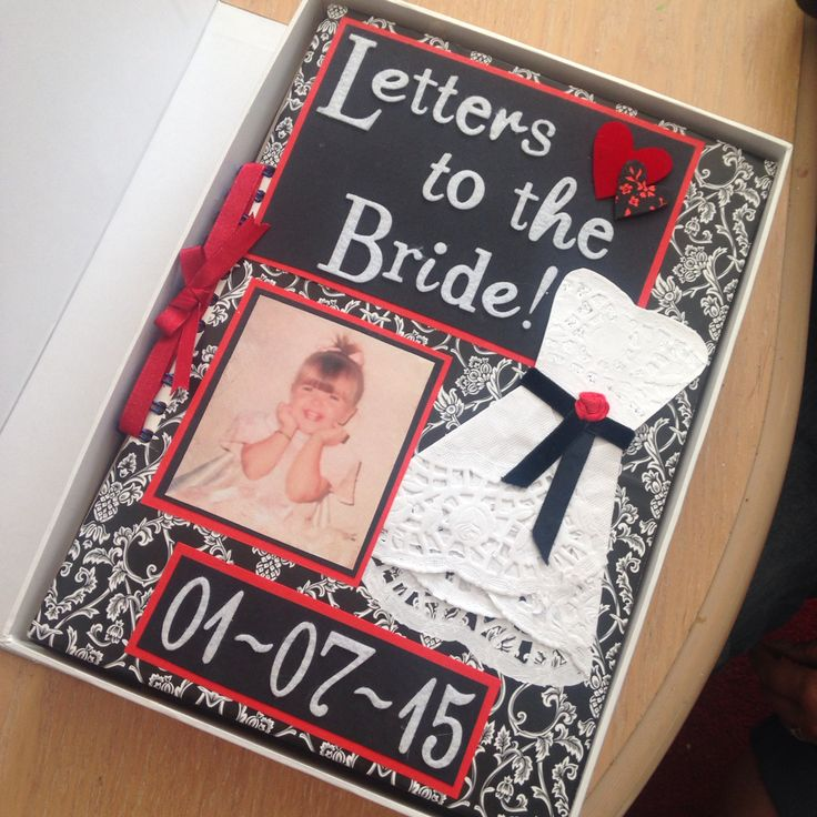 Letters to the Bride scrapbook  given to my sister the night before her wedding - filled with letters, photos and momentos from the bridal party, close friends and family