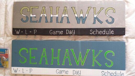 Seahawks game score board