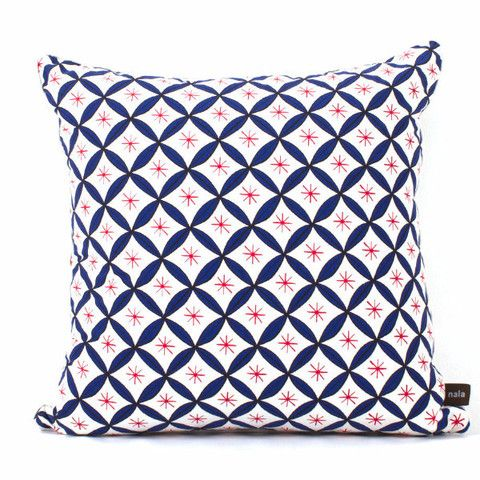 Nala Pillow Case - Willow Wishes Blue & Red (Large)