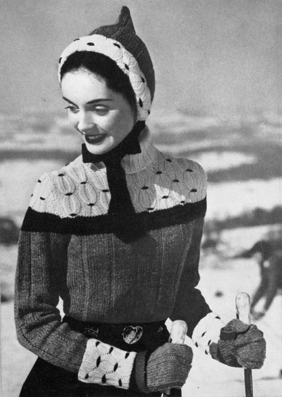 Retro 50s Ski Pixie Outfit - Vintage Knitting Pattern - PDF eBook