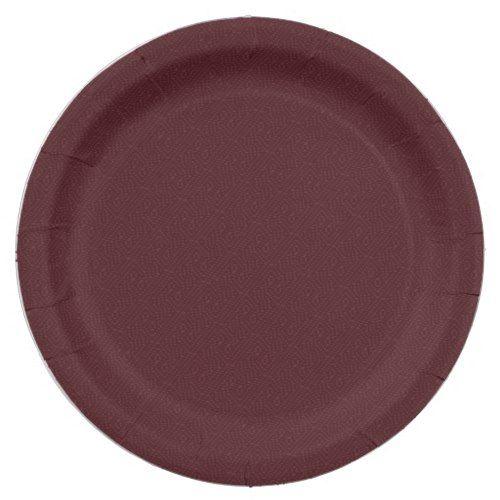 Plain Burgundy Wine Color Paper Plates