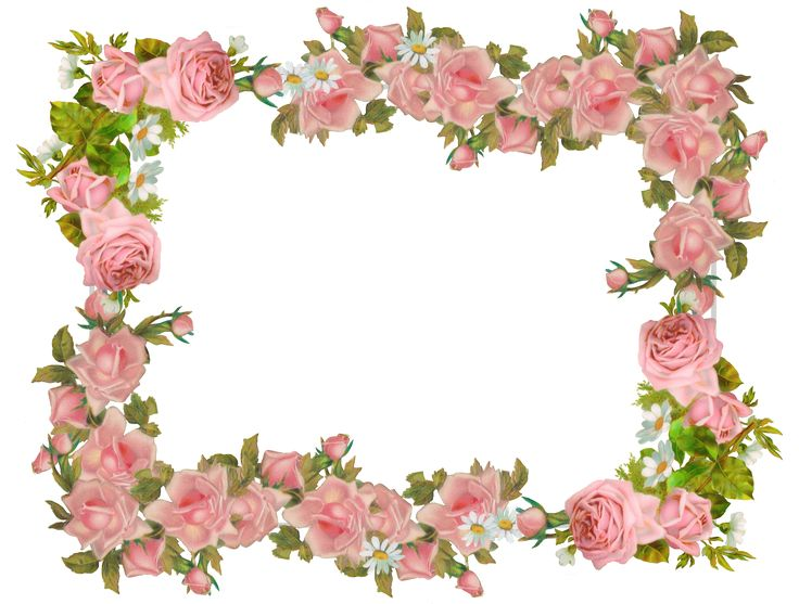 99 best images about flower border / vector decoupage ...