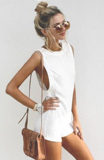 white playsuit.