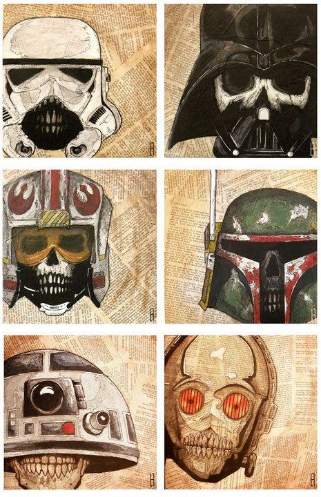 Dead Star Wars Print Set of Six (6).