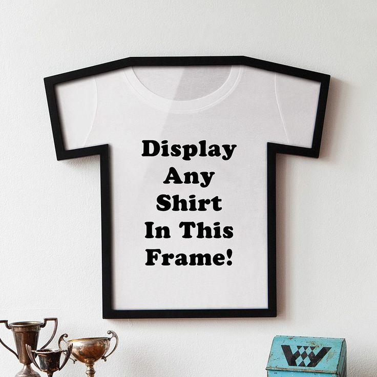 New Plastic T Shirt Shaped Display Frame Prized Shirts