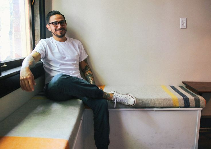 """It was my wife's idea to have two chairs and then a corner bench. I thought, 'I could build those.' I had no idea how to do that, so I looked on Pinterest searching for 'DIY corner bench' and I found a Pin with a cabinet underneath the bench...From there I went to the hardware store and grabbed the materials I needed and starting putting it together. It took a solid weekend."" - Steven in Nashville"