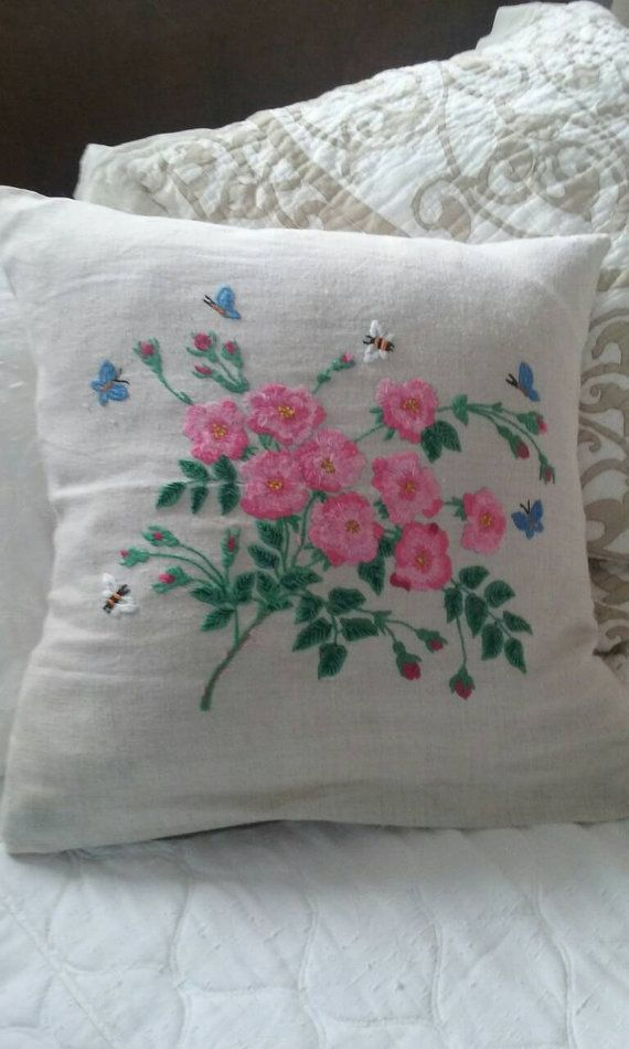 Check out this item in my Etsy shop https://www.etsy.com/listing/463496229/linen-throw-pillow-hand-embroidered