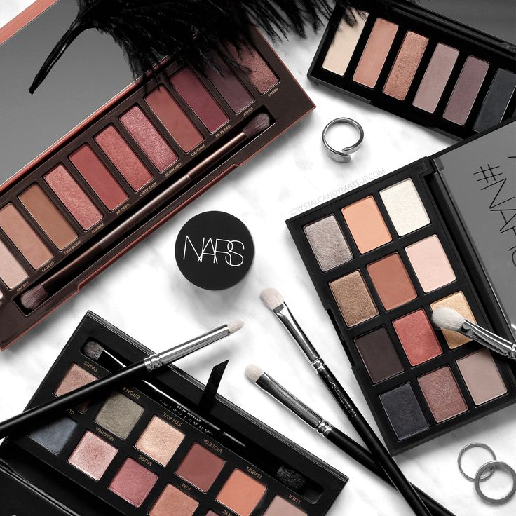 Neutral eyeshadow palettes : Urban Decay Naked Heat Rodial Smokey Eye Sculpt NARS Loaded ABH Master Palette by Mario