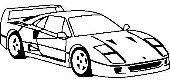 ferrari f40 1987 coloring page