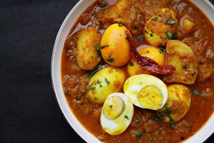 Bengali Dimer Dalna - Egg and potato curry with tomato, cumin, chilli & turmeric