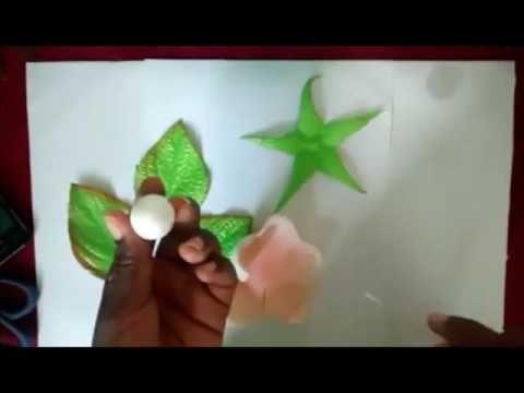 botao de rosa em foami - YouTube